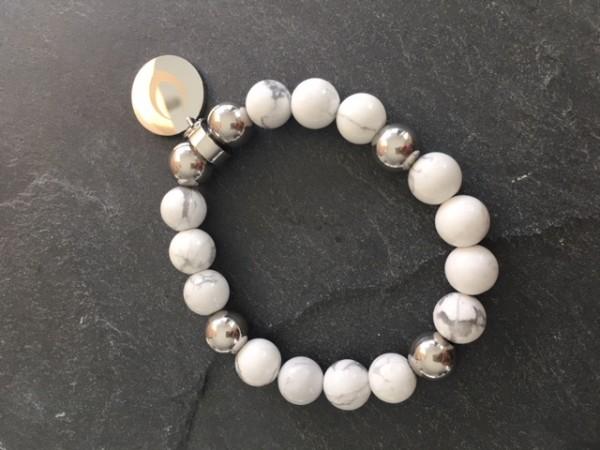 Royal Ego Damen Armband weiß-silber